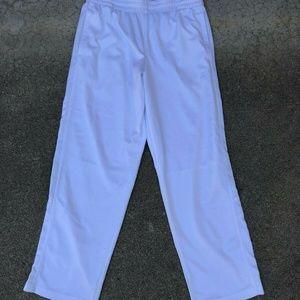 STARTER Dri-Star White Gym Exercise Track Pants